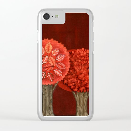 Red Grove Clear iPhone Case