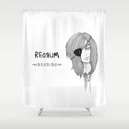Redrum 02 Kelsey Shower Curtain