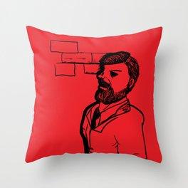 Bram Stoker Reflexion  Throw Pillow