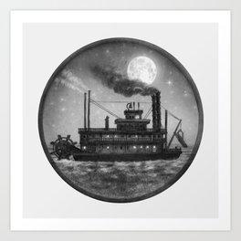 Paddle Boat  Art Print