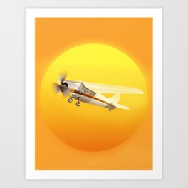 Bright Yellow Sun Art Print