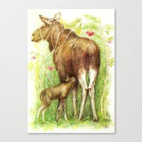 elk Canvas Prints featuring Elk by Natalie Berman