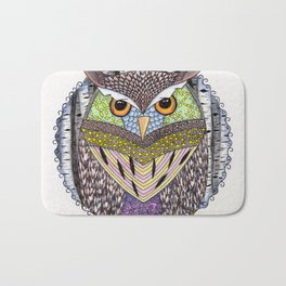 Poorly Camouflaged Owl Bath Mat