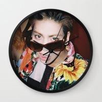 shinee Wall Clocks featuring Jonghyun - SHINee by Felicia