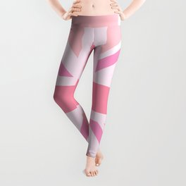 Pink Union Jack/Flag Design Leggings