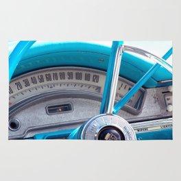 The blue steering wheel Rug