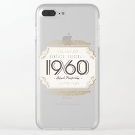 Classic Original Built to Last Birthday Clear iPhone Case