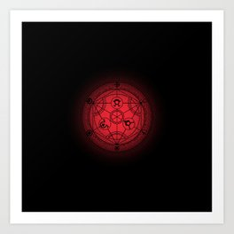 transmutation halftone circle Art Print