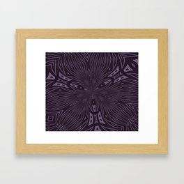 Pale Aubergine and Eggplant Abstract Pattern Kaleidescope Framed Art Print
