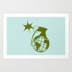 Earth Grenade Art Print