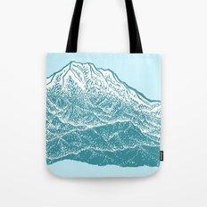 Distant Snow- 遠雪 : linocut Tote Bag