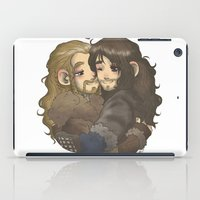 hug iPad Cases featuring Hug by AlyTheKitten