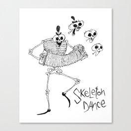 Skeleton Dance Canvas Print