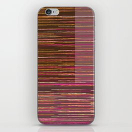 Red lines iPhone Skin