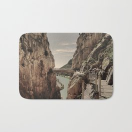 """The most dangerous trail in the world II"". El Caminito del Rey  Bath Mat"