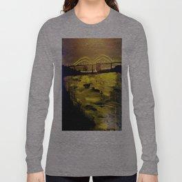 Memphis Skyline at Night Long Sleeve T-shirt