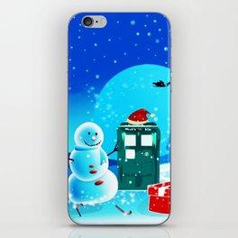 Tardis With Snow Ball Gift Christmas iPhone Skin