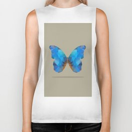 Blue Butterfly Biker Tank