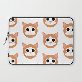 Orange Cats Pattern Laptop Sleeve