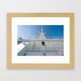 on a boat (one) Framed Art Print