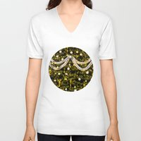 christmas tree V-neck T-shirts featuring Christmas Tree by Pati Designs