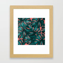 monstera leaves 2 Framed Art Print
