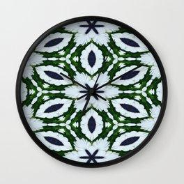 White African Daisy Kaleidoscope Print Wall Clock