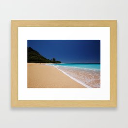 Tunnels Beach,kauai Framed Art Print
