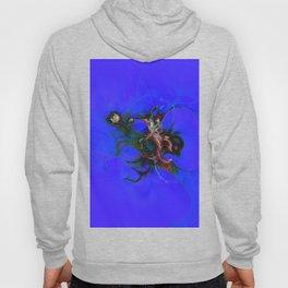 Abstrct Blue Space Hoody