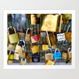 Love Lock Bridge-Paris Art Print