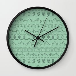 Green Loops Wall Clock
