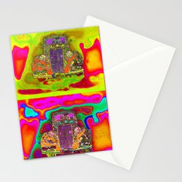 CRAZY NUT OLD CARS Stationery Cards