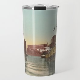 South Branch of the Chicago River at 14th Street 1900 Travel Mug