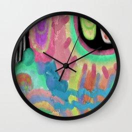 Untitled Abstract Digital Painting Wall Clock