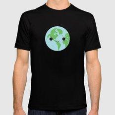 Happy Earth Mens Fitted Tee MEDIUM Black