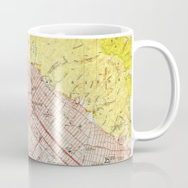 Vintage Map of Burbank California (1953) Coffee Mug
