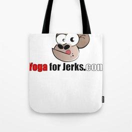 Yoga for Jerks.com Small monkey Tote Bag
