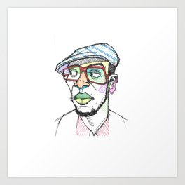 Rapper-a-day project | Day 1: Mos Def Art Print