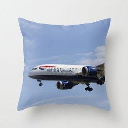 British Airways and Birds Throw Pillow