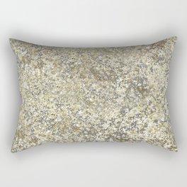 Gold Leaf Crackle Sparkle Rectangular Pillow