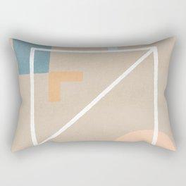 Behind - Earth colors simple minimalist art Rectangular Pillow