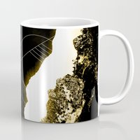 snowboarding Mugs featuring Golden Mountain by Schwebewesen • Romina Lutz