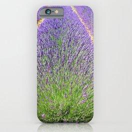Lavender Field Flowers Landscape iPhone Case