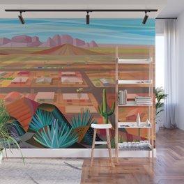 Desert Town Wall Mural