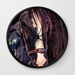 Concept Kaltblutmarkt 2018 : Horse eyes Wall Clock