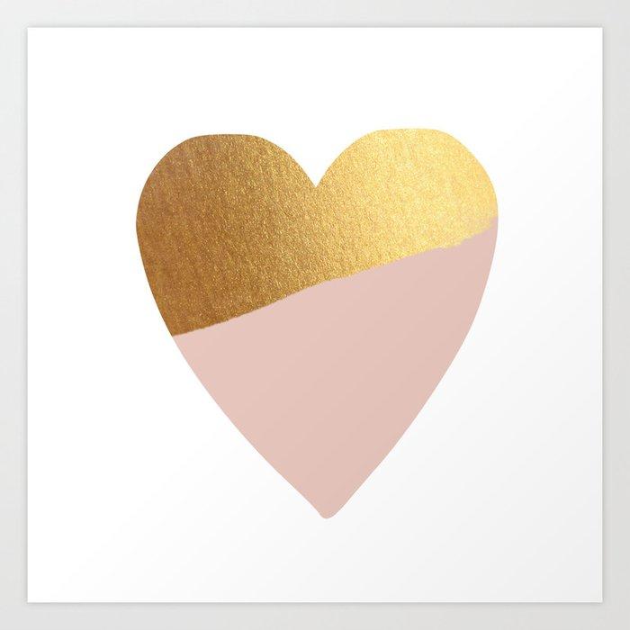 Heart of Gold (and Millennial Pink) Kunstdrucke