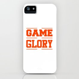 His Game My Glory Christian Sports T-shirt iPhone Case