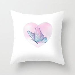 Butterflie Baby, Funny Minimalist Throw Pillow