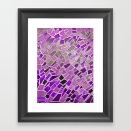 Friday Night Mosaic Framed Art Print