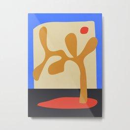 abstract minimal tree Metal Print